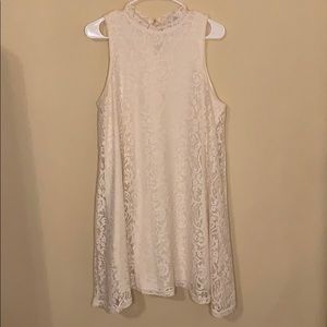 Cream vintage Lace sleeveless short dress